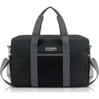 Bolsa De Viagem E Academia Jacki Design Poliéster - Unissex-Preto