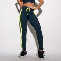 Legging Fitness Textura E Recorte Neon Feminina - Feminino