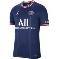 Camisa Masculina Nike Clubs Paris Saint-Germain I 2021/22 Torcedor Marinho - P