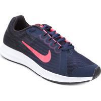 Tênis Infantil Nike Downshifter 8 - Feminino-Preto+Azul