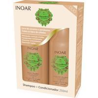 Kit Shampoo Inoar Macadamia 250 Ml + Condicionador 250 Ml - Unissex-Incolor
