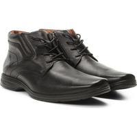 Sapato Social Couro Ferracini React Masculino - Masculino-Preto