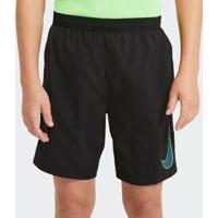 Calção Futebol Nike Dry Academy Preto Infantil