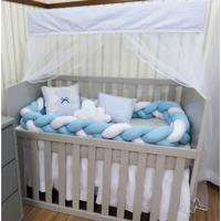 Kit Berço I9 Baby Americano Para Meninos 10 Peças Trança Com Almofadas Decorativas