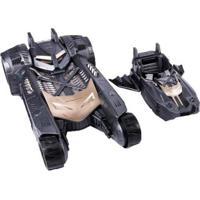 Carrinho Dc Comics Batmóvel 2 Em 1 - 2 Peças - Masculino-Preto