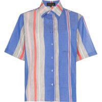 A Peace Treaty Camisa Listrada 'Tarouba' - Roxo