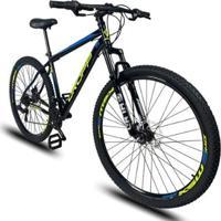 Bicicleta Aro 29 Dropp Sport Aço 21V Câmbio Shimano Freio A Disco Mecânico Com Suspensão - Unissex