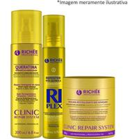 Richée Clinic Repair Mascara + Queratina E Riplex Repositor - Feminino-Incolor