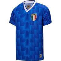 Camisa Itália Retrô 1988 Masculino - Masculino-Azul Royal