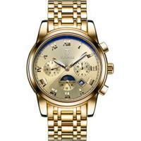 Relógio Tevise 9005 Masculino Automático Pulseira Aço - Dourado
