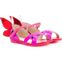 Sophia Webster Mini Sandália Color Block Com Borboleta - Rosa
