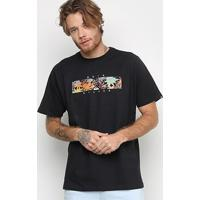 Camiseta Quiksilver Box Heat Masculina - Masculino-Preto