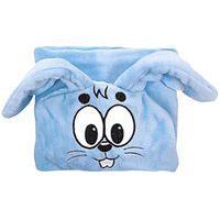 Manta Soft Bebê Masculina Azul Bordado Sansão - Turma Da Mônica - Tamanho Único - Azul