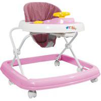 Andador - Branco E Rosa - Styll Baby