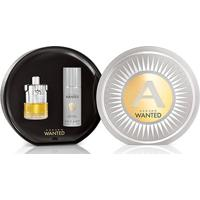 Kit Masculino Perfume Azzaro Wanted Edt 100Ml + Desodorante 150Ml - Masculino
