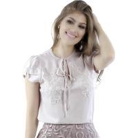 Blusa Miss Lady Viscose Rosé