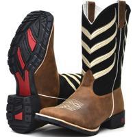 Bota Texana Country Ramon Boots Marrom Com Preto