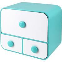 Caixa Organizadora Com 3 Gavetas Tam. G Jacki Design Organizadores Azul