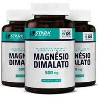 Kit 3X Magnésio Dimalato Stark Supplements 120 Cápsulas - Unissex
