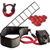 Cinto De Tração Fixo Knockout Com 4 Elásticos + 10 Chapéu + Escada + Corda De Pular - Unissex