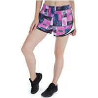Shorts Nike Icon Clash Tempo - Feminino - Rosa/Branco