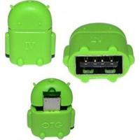 Adaptador Micro Usb Otg X Usb Android Verde