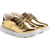 Sapato Klassipé Metalizado Infantil - Feminino-Ouro
