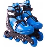 Patins Roller In-Line Radical Ajustável - Unissex-Azul