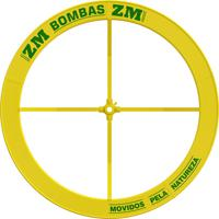Roda De Água Para Bomba 1.40 X 0.25M Amarela Zm Bombas