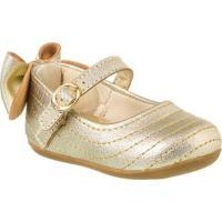 cc97862735 ... Sapatilha Infantil Klin Cravinho Princess Laço - Feminino-Dourado