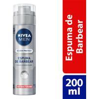 Espuma De Barbear Nivea For Men Silver Protector 200Ml