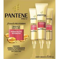 Ampola Pantene Cachos Hidra-Vitaminados Com 3 Unidades De 15Ml Cada
