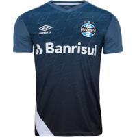 Camisa De Treino Do Grêmio 2020 Umbro - Masculina - Azul/Branco