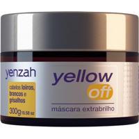 Máscara Extra Brilho Yenzah Yellow Off Desamareladora 300G - Unissex-Incolor