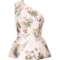 Monique Lhuillier Blusa Com Estampa Floral - Rosa