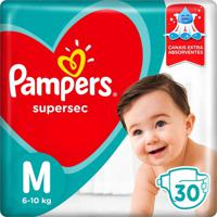 Fralda Pampers Supersec Tamanho M 30 Tiras