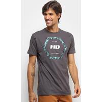 Camiseta Hd Long Nocturn Masculina - Masculino-Cinza