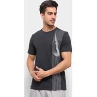 Camiseta Nike Dri-Fit Training Logo Masculina - Masculino-Preto+Cinza