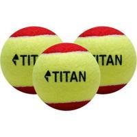 Bola De Tênis Titan Kids Vermelha Estágio 3 - Unissex