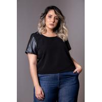 Blusa Cropped Black Plus Size