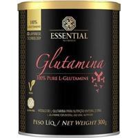 Glutamina 100% Pure 300G - Essential Nutrition - Unissex