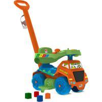 Carrinho Infantil De Passeio E Andador Reciclagem-Bandeirante - Marrom / Verde / Azul