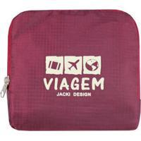 Bolsa De Viagem Dobrável Jacki Design Viagem - Unissex-Vermelho Escuro