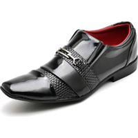 Sapato Social Masculino Top Franca Shoes Verniz Preto - Masculino-Preto