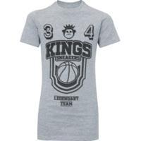 Camiseta Kings Basketball - Infantil - Cinza Claro