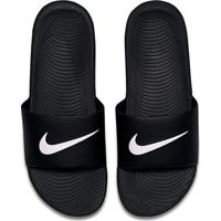 Chinelo Slide Nike Kawa Masculino - Masculino-Preto+Branco