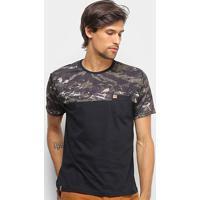 Camiseta Hd Especial Soldier Masculina - Masculino-Preto
