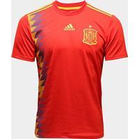 Camisa Seleção Espanha Home 2018 S/N° Torcedor Adidas Masculina - Masculino