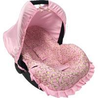 Capa Para Bebê Conforto Girafa Alan Pierre Baby 0 A 13 Kg Rosa