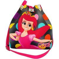 Bolsa Infantil Princesa Pink Fashion - Feminino-Preto
